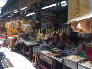 China town vendors in alley, Bangkok, Thailand