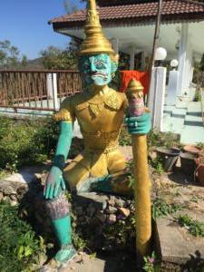 Temple guard, Wat Phra That Mae Yen, Pai, Mae Hong Son, Thailand