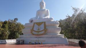White Buddha, Wat Phra That Mae Yen, Pai, Mae Hong Son, Thailand