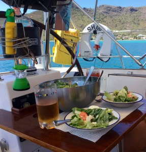 Lunch, Sailing vessel Thindra, Caribbean