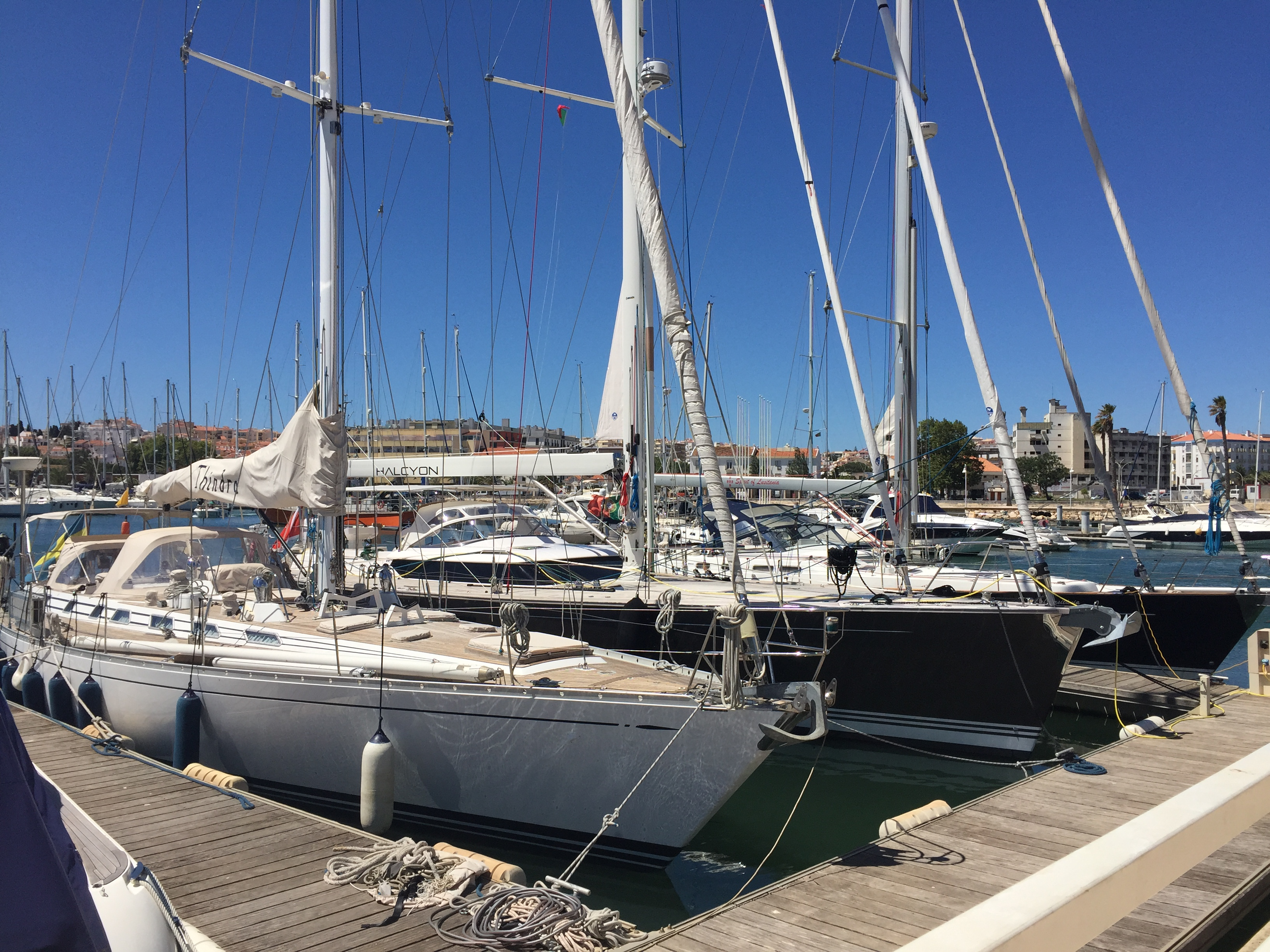 Yachts in Lagos, Portugal